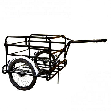 Cargo Trailer for Bicycles with Rear Swing Gate