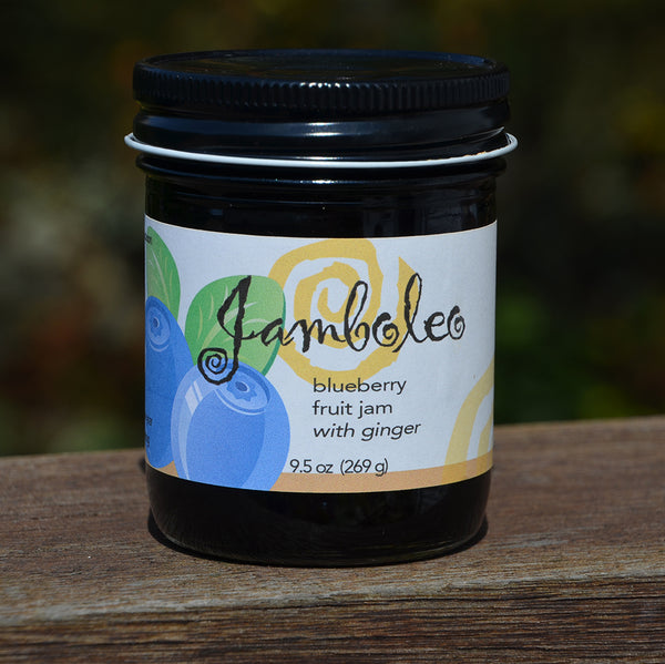 Bluberry jam with ginger, 9.5 oz