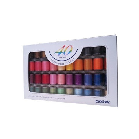 Sợi Thêu 40 Màu - CYT40 (40 Colors Country Yarn Thread - Brother Original) -  Phụ Kiện Máy May Máy May Đa Năng Brother