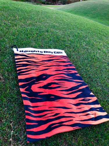 TIGER PRINT SCRUBBY BACK TOWEL-15X25