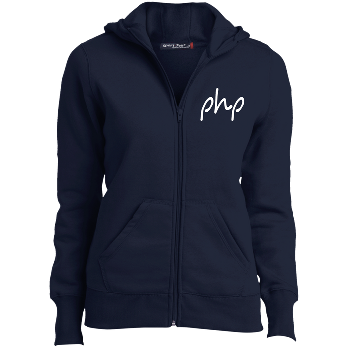 Embroidered Ladies' Full-Zip Hoodie