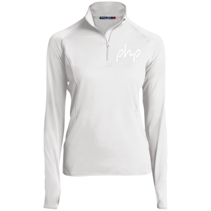 Embrodered Women's 1/2 Zip Performance Pullover