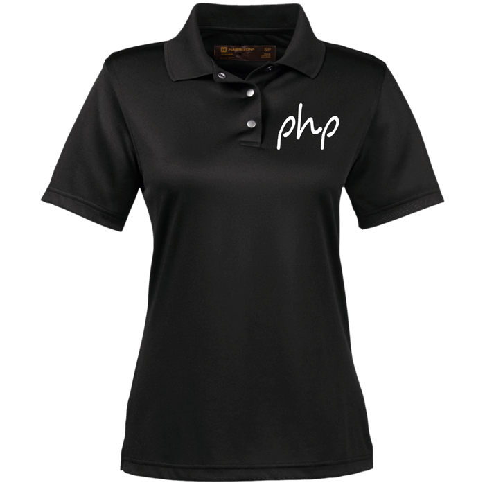 Embrordered Ladies' Snap Placket Performance Polo