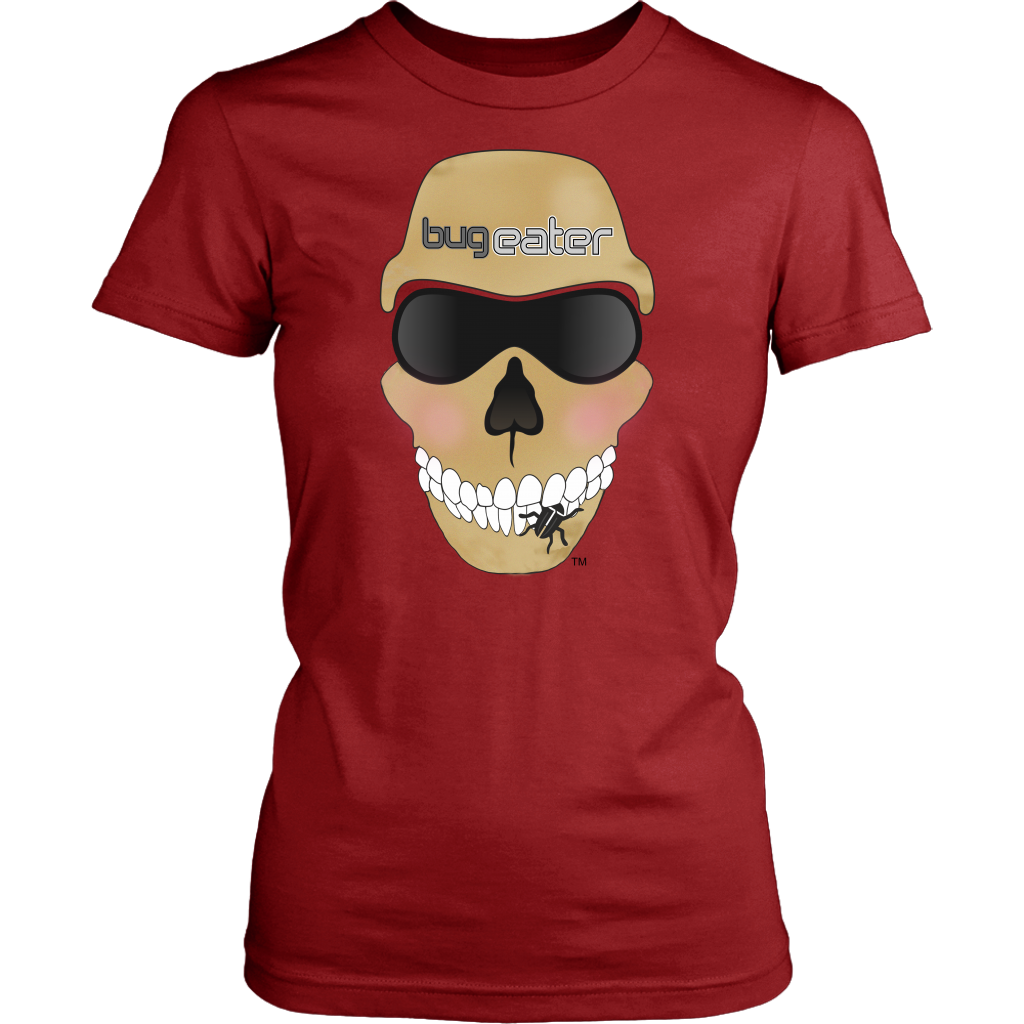 BugEater™ Lady Biker Fitted T-Shirt—Full-Front Logo
