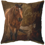 Cowgirl Rustic Horse Pillow