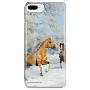 Winter Horses Cell Phone Case