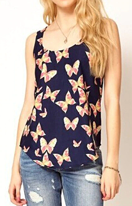 Butterfly Collection Longline Tank Top