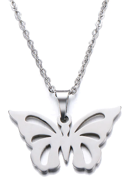 Butterfly Silhouette Necklace