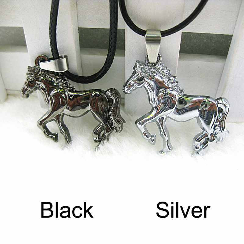 Casual Horse Necklace, Leather Chain
