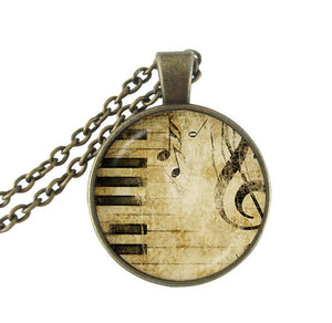 Classic Piano Pendant Necklace
