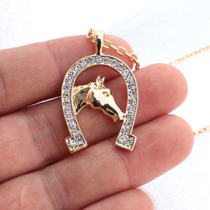 Crystal Horseshoe Necklace
