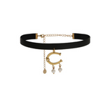 Elegant Horseshoe Choker Necklace