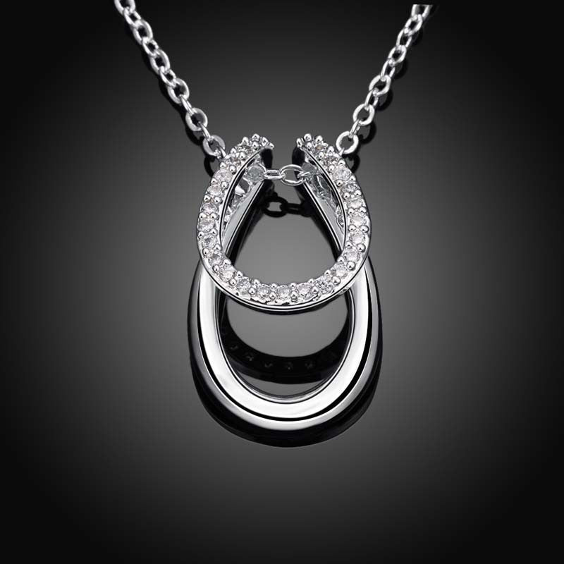 Fancy Double-Horseshoe Necklace