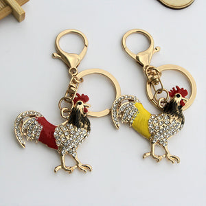 Fancy Rooster Key Chain