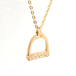 Golden Stirrup Necklace