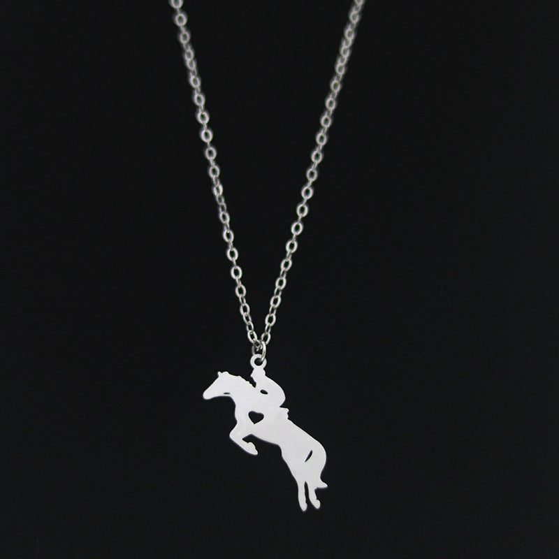 Horse Jumping Necklace