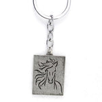 Horse Sketch Key Chain