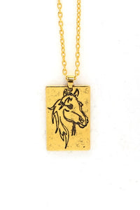 Horse Sketch Necklace