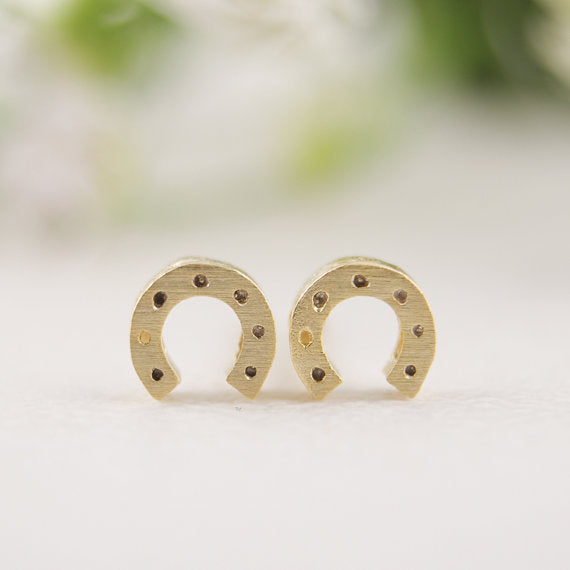 Sweet Petite Horseshoe Earrings