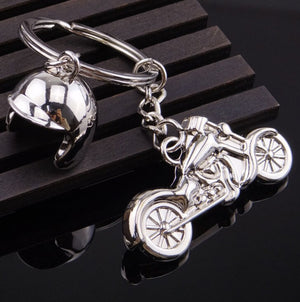 Motorcycle and Helmet Key Chain