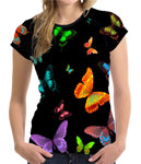 Midnight Rainbow Butterfly Shirt