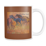Coffee Time Horse Mug