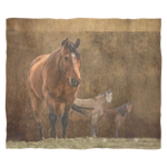 Rustic Horse Fleece Blanket