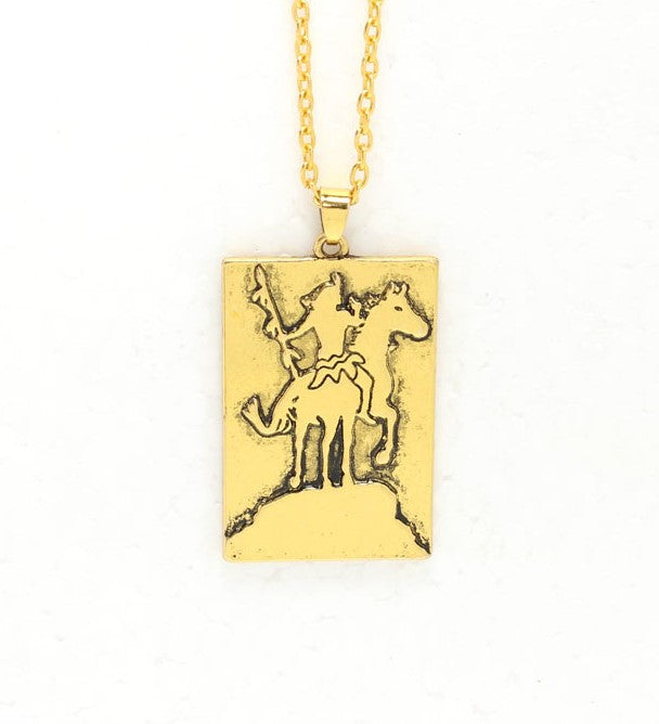 Native American Warrior and Horse Pendant