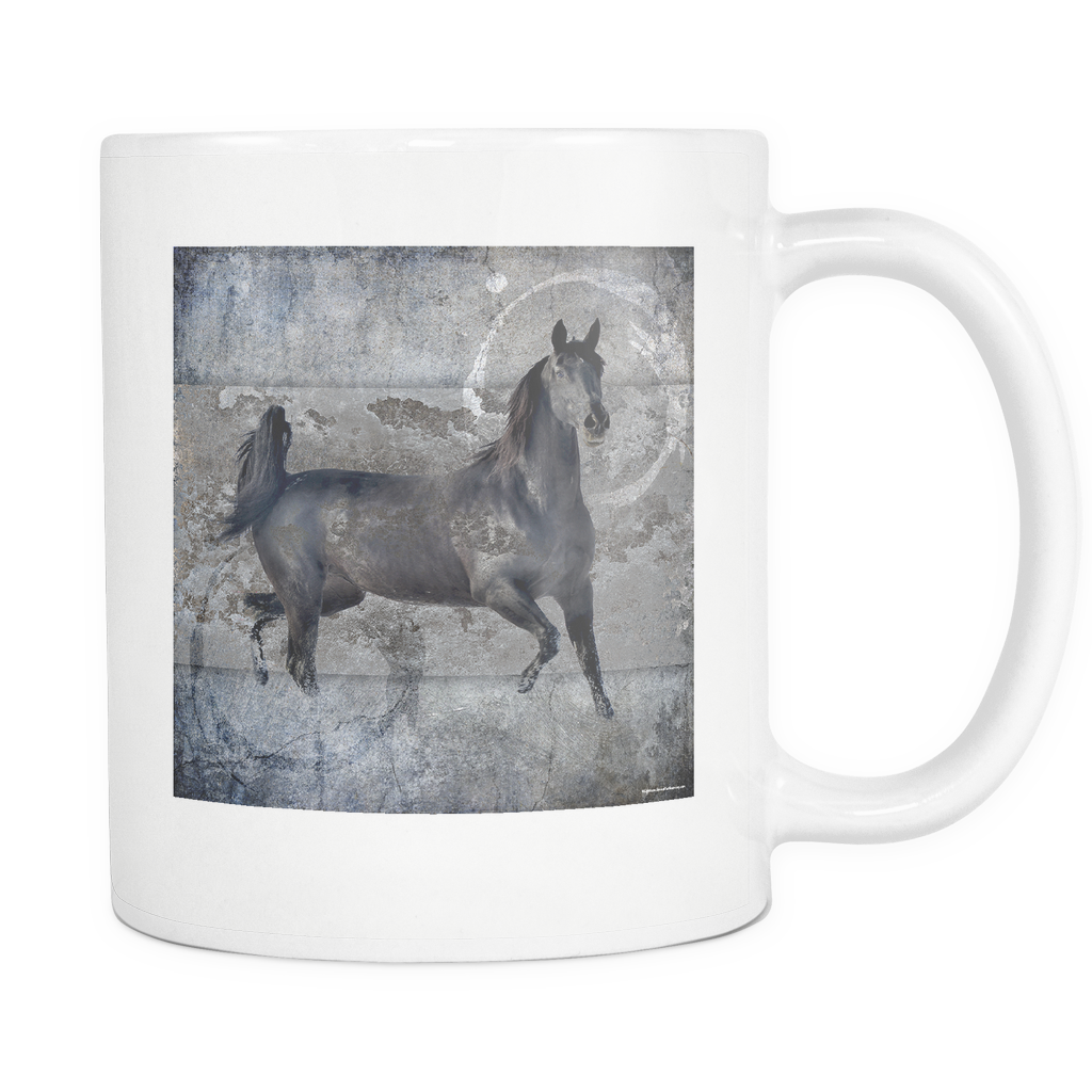 Misty Horse Coffee Mug white