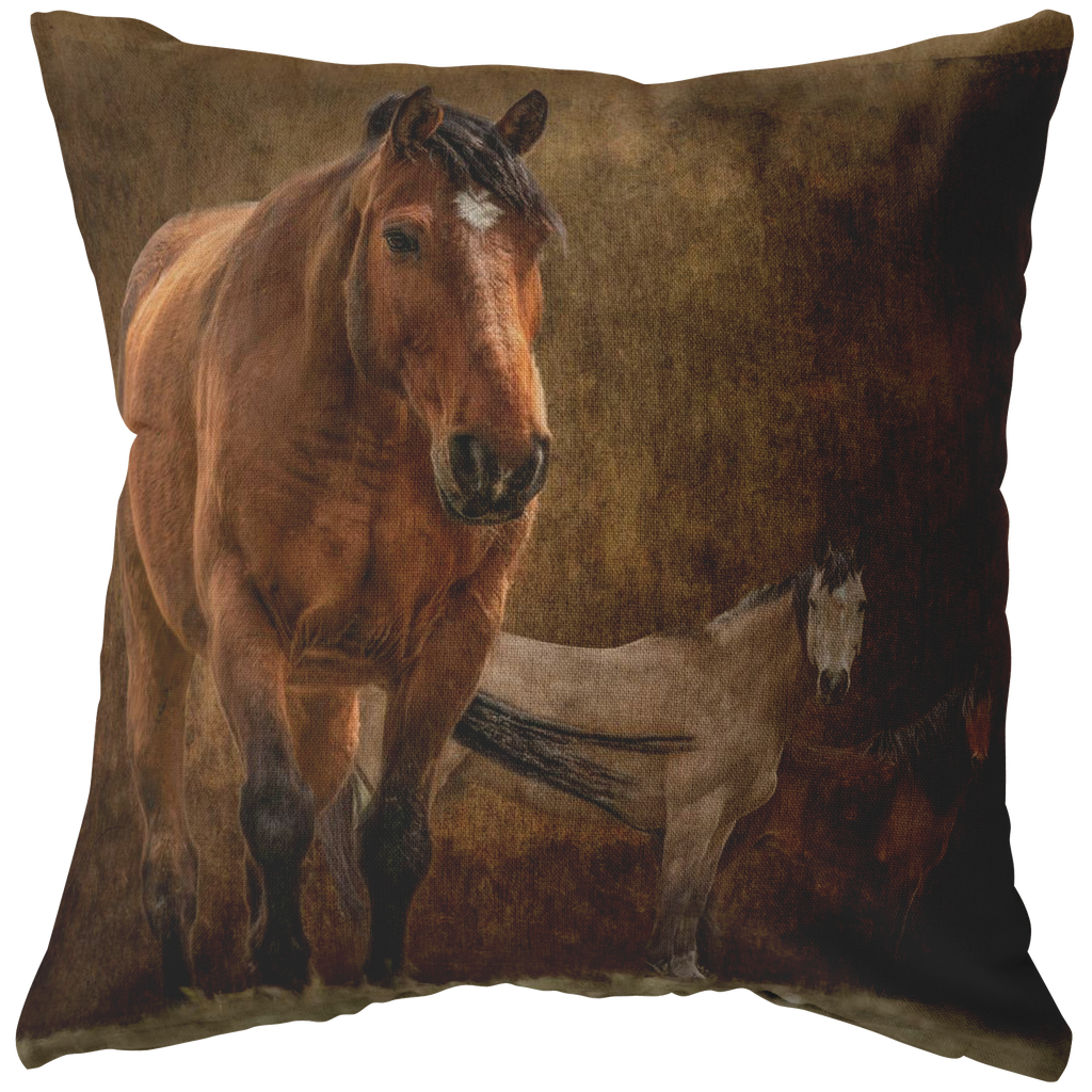 Rustic Horse Pillow