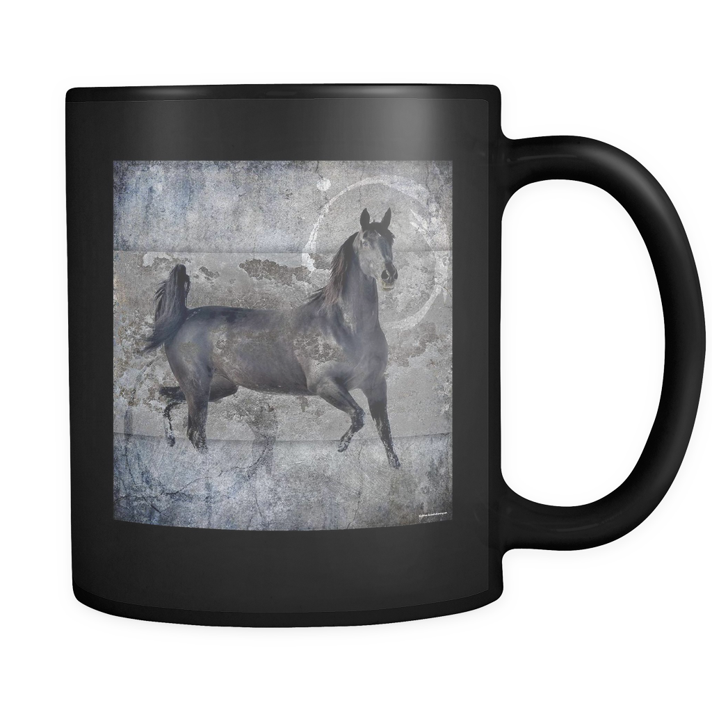 Misty Horse Coffee Mug black