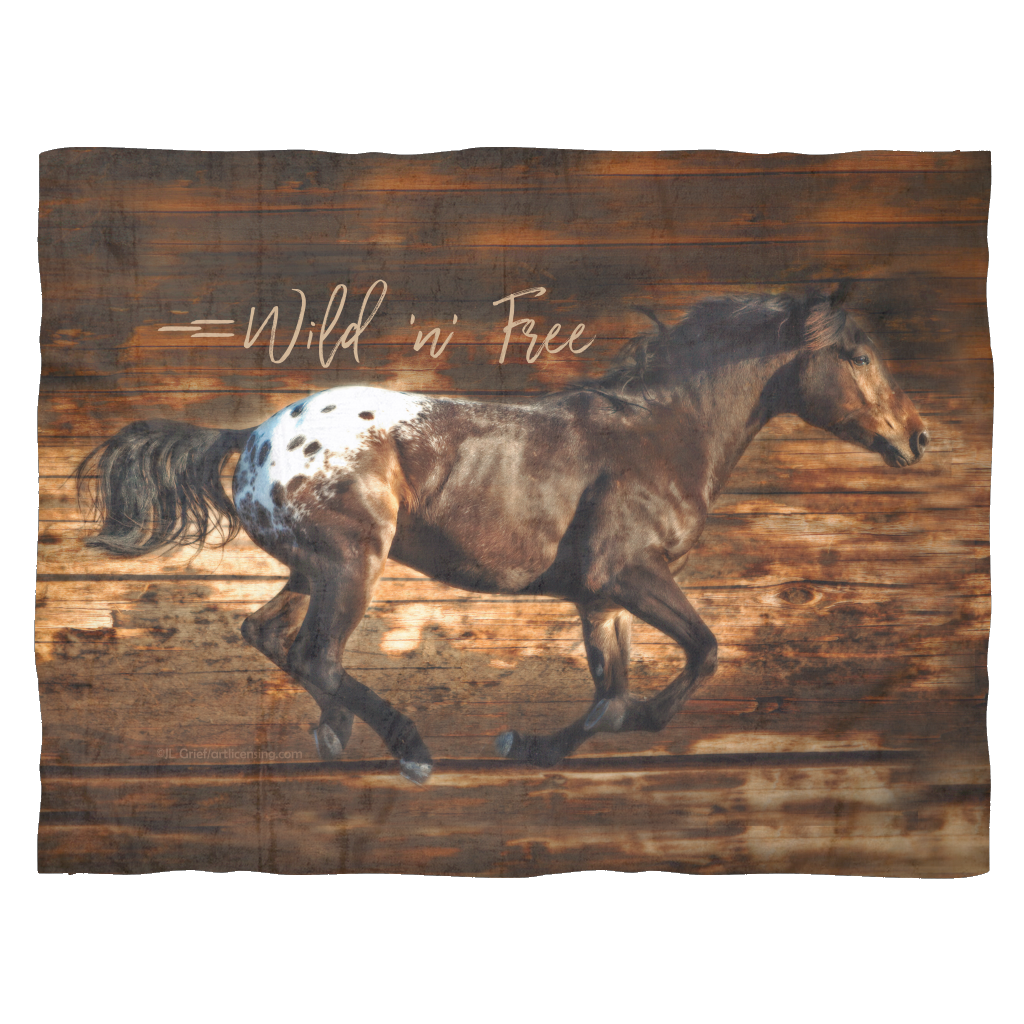 Wild 'n' Free Fleece Blanket