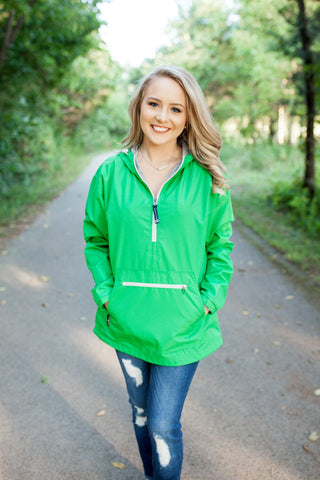 Charles River Chatham Anorak Pullover Kelly Green