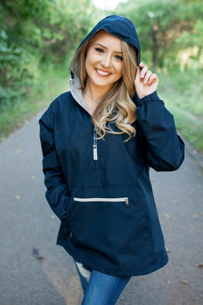 Charles River Chatham Anorak Pullover Navy