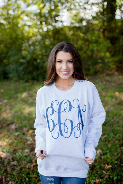 Monogram Crew neck Sweatshirt Ash
