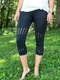 Mineral Wash Highwaist Capri Leggings