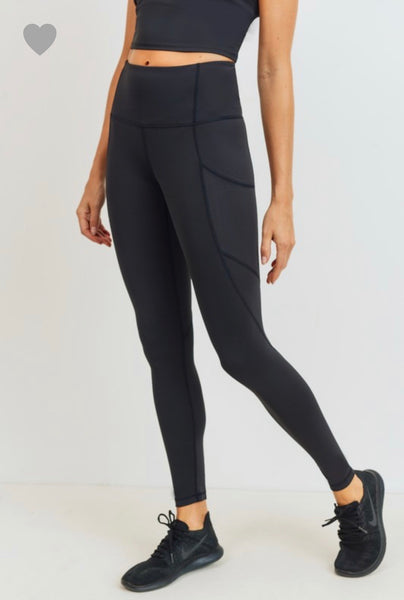 Solid & Slanted Highwaist Leggings