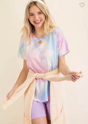 Pink Mix Tie Dye Top