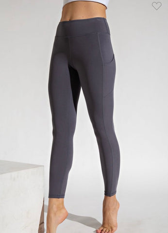 Butter Soft Leggings-Navy
