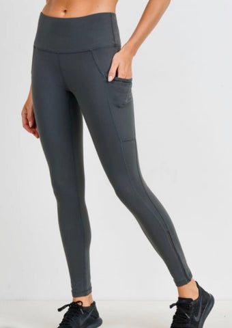 Highwaist Side-Mesh & Full Slit Leggings