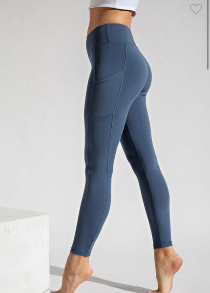 Butter Soft Leggings-Code Blue
