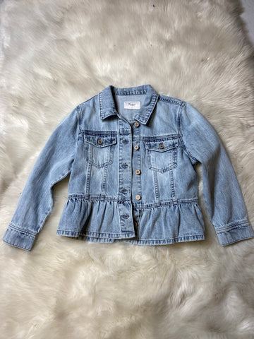 Heather Peplum Denim Jacket