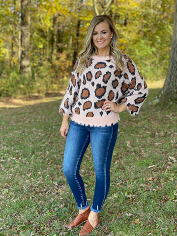 Mattie Animal Print Sweater