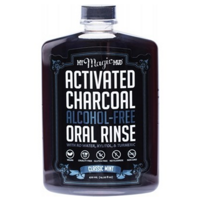 Activated Charcoal Oral Rinse - Classic Mint (Alcohol Free) 420ml