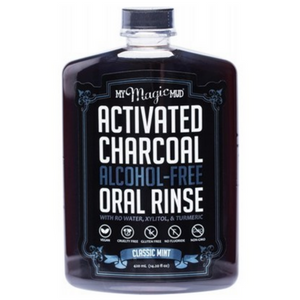 Activated Charcoal Oral Rinse - Classic Mint (Alcohol Free) 420ml - Wellness Home and Life