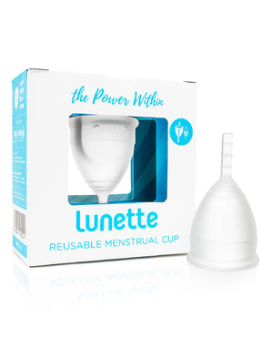 Lunette Menstrual Cup - Clear - Wellness Home and Life