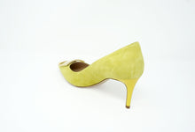 Deimille Lime Suede Pump with Buckle