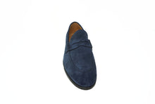 RARE Blue Suede Penny Loafer