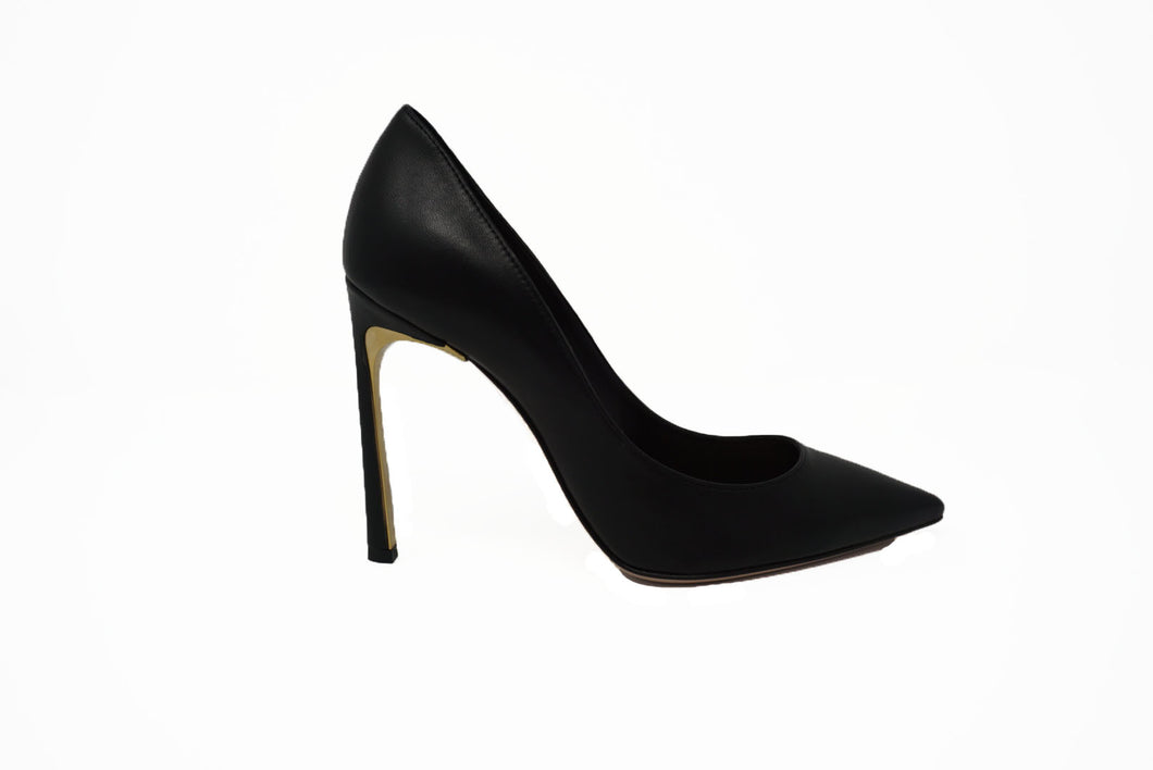Sebastian # 6911 Blk Leather Pump