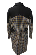 Montreal Dark Blue & Plaid Wool Coat